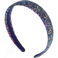 Claire's Glitter Galaxy Headband - Purple - Claires Gifts