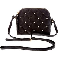 Claire's Quilted Pearl Crossbody Bag - Black - Pearl Gifts