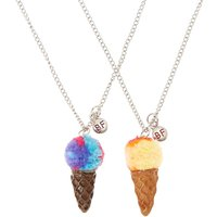Claire's Best Friends Rainbow Pom Ice Cream Cone Pendant Necklaces - Necklaces Gifts