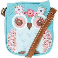 Claire's Club Hazel The Owl Crossbody Purse - Teal - Purse Gifts
