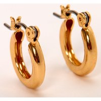 Claire's Gold 10MM Tube Hoop Earrings - Jewellery Gifts