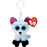 Claire's Ty Beanie Boo Piper The Chevron Fox Keyring Clip - Beanie Gifts