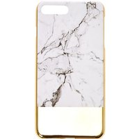 Claire's Marble Style & Gold Phone Case - Fits Iphone 6/7/8 Plus - Style Gifts