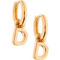 Claire's Gold 10MM Initial Huggie Hoop Earrings - D - Jewellery Gifts