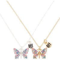 Claire's Best Friends Pastel Rhinestone Butterfly Pendant Necklaces - Necklaces Gifts