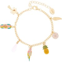Claire's Gold Tropical Fun Charm Bracelet - Fun Gifts