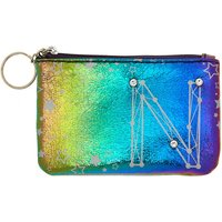 Claire's Rainbow Star Studded Initial Coin Purse - N - Purse Gifts