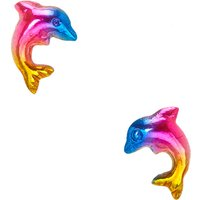Claire's Rainbow Dolphin Sterling Silver Stud Earrings - Dolphin Gifts