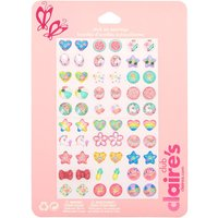 Claire's Club Summer Stick On Earrings - 30 Pack - Summer Gifts