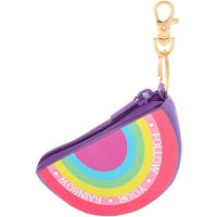 Claire's Follow Your Rainbow Coin Purse Keyring - Purple - Purse Gifts