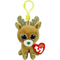 Claire's Ty Beanie Boo Glitzy The Reindeer Keyring Clip - Reindeer Gifts