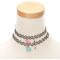 Claire's Best Friends Unicorn Tattoo Choker Necklaces - 2 Pack - Necklaces Gifts