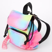 Claire's Rainbow Tie Dye Nylon Mini Backpack - Backpack Gifts