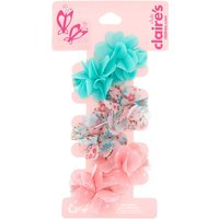 Claire's Club Chiffon Flower Hair Clips - 6 Pack - Hair Gifts