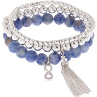 Claire's Creativity Fortune Stretch Bracelets - Blue, 3 Pack - Creativity Gifts