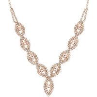 Claire's Rose Gold Evil Eye Rhinestone Statement Necklace - Fashion Gifts