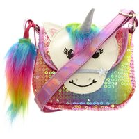 Claire's Club Starbright The Unicorn Rainbow Unicorn Sequin Purse - Purse Gifts