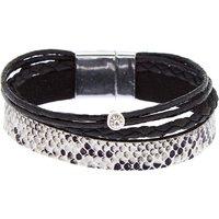 Claire's Snake Print Wrap Bracelet - Black - Snake Gifts