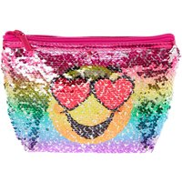 Claire's Reversible Sequin Emoji Cosmetic Bag - Bag Gifts