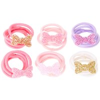 Claire's Club Glitter Bow Mini Hair Ties - Ties Gifts