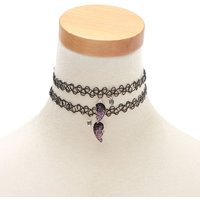 Claire's Best Friends Glitter Heart Tattoo Choker Necklaces - 2 Pack - Necklaces Gifts