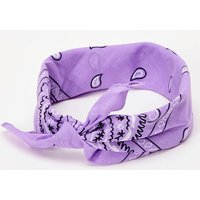 Claire's Paisley Bandana Headwrap - Lilac Bracelet - Lilac Gifts
