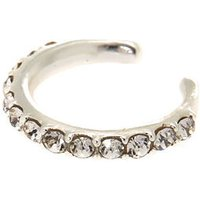 Claire's Sterling Silver Stone Band Ear Cuff - Band Gifts