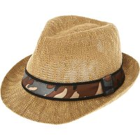 Claire's Tan Camo Fedora Hat - Camo Gifts