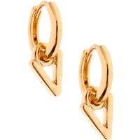 Claire's Gold 10MM Initial Huggie Hoop Earrings - V - Jewellery Gifts
