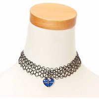 Claire's Best Friends Mood Heart Pendant Tattoo Choker Necklaces - Tattoo Gifts