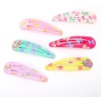 Claire's Club Butterfly Floral Snap Hair Clips - 6 Pack - Floral Gifts