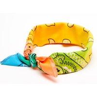 Claire's Ombre Rainbow Paisley Bandana Headwrap Bracelet - Fashion Gifts