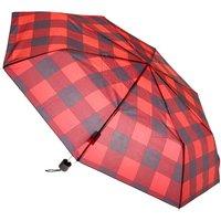 Claire's Red & Black Plaid Umbrella - Umbrella Gifts