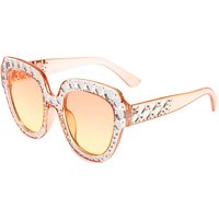 Claire's Oversized Embellished Heart Sunglasses - Pink - Sunglasses Gifts