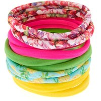 Claire's Tropical Pineapple Rolled Hair Ties - 10 Pack - Ties Gifts