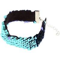 Claire's Turquoise & Lavender Reversible Sequins Bracelet - Lavender Gifts