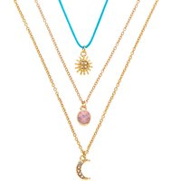 Claire's 3 Pack Sun, Moon, & Opal Pendant Necklaces - 3 Pack - Sun Gifts