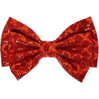 Claire's Christmas Glitter Hair Bow Clip - Red - Holiday Gifts