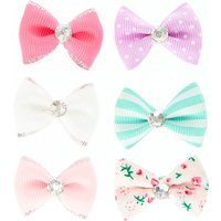 Claire's Club Mini Pastel Hair Bows - 6 Pack - Bows Gifts