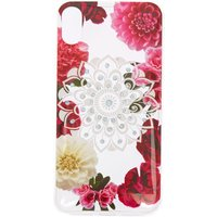 Claire's Floral Bling Mandala Protective Phone Case - Fits Iphone X/xs - Bling Gifts