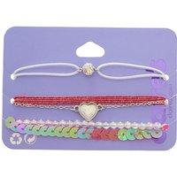 Claire's 5 Pack Pink Romance Bracelet Set - Romance Gifts