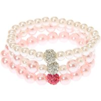 Claire's Club Pearl Stretch Bracelets - 3 Pack - Pearl Gifts