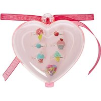Claire's Kids Sweet Treat Charm Rings Set Of 7 - Sweet Gifts