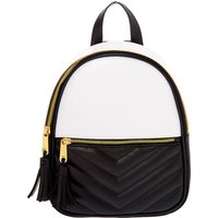 Claire's Quilted Chevron Black & White Small Backpack - Backpack Gifts