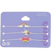 Claire's Rainbow Unicorn Charm Bracelets - 3 Pack - Charm Gifts