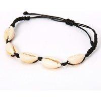 Claire's Cowrie Shell Adjustable Bracelet - Black - Bracelet Gifts