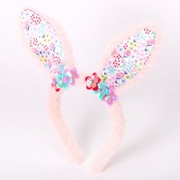 Claire's Club Floral Bunny Ears - Pink - Floral Gifts