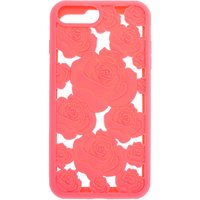 Claire's Coral Floral Cut Out Silicone Phone Case - Fits Iphone 6/7/8 Plus - Coral Gifts
