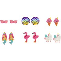 Claire's 6 Pack Tropical Magic Stud Earrings - Magic Gifts