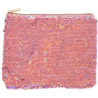 Claire's Reverse Sequin Makeup Bag - Pink - Bag Gifts